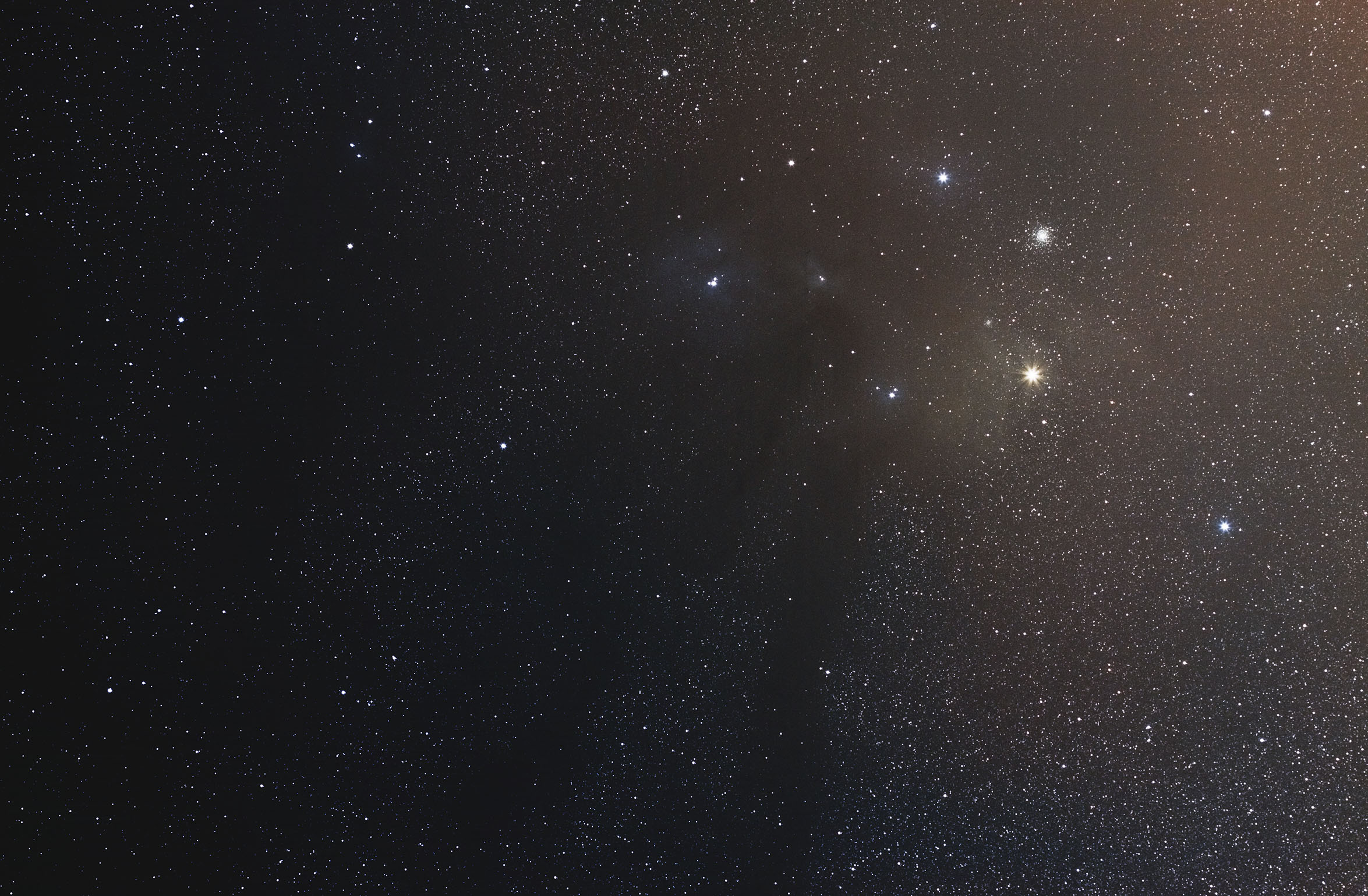 The bright Antares, the Rho Ophiuchi clouds, and globular cluster M4 all make an appearance in my first wide field shot of the sky.