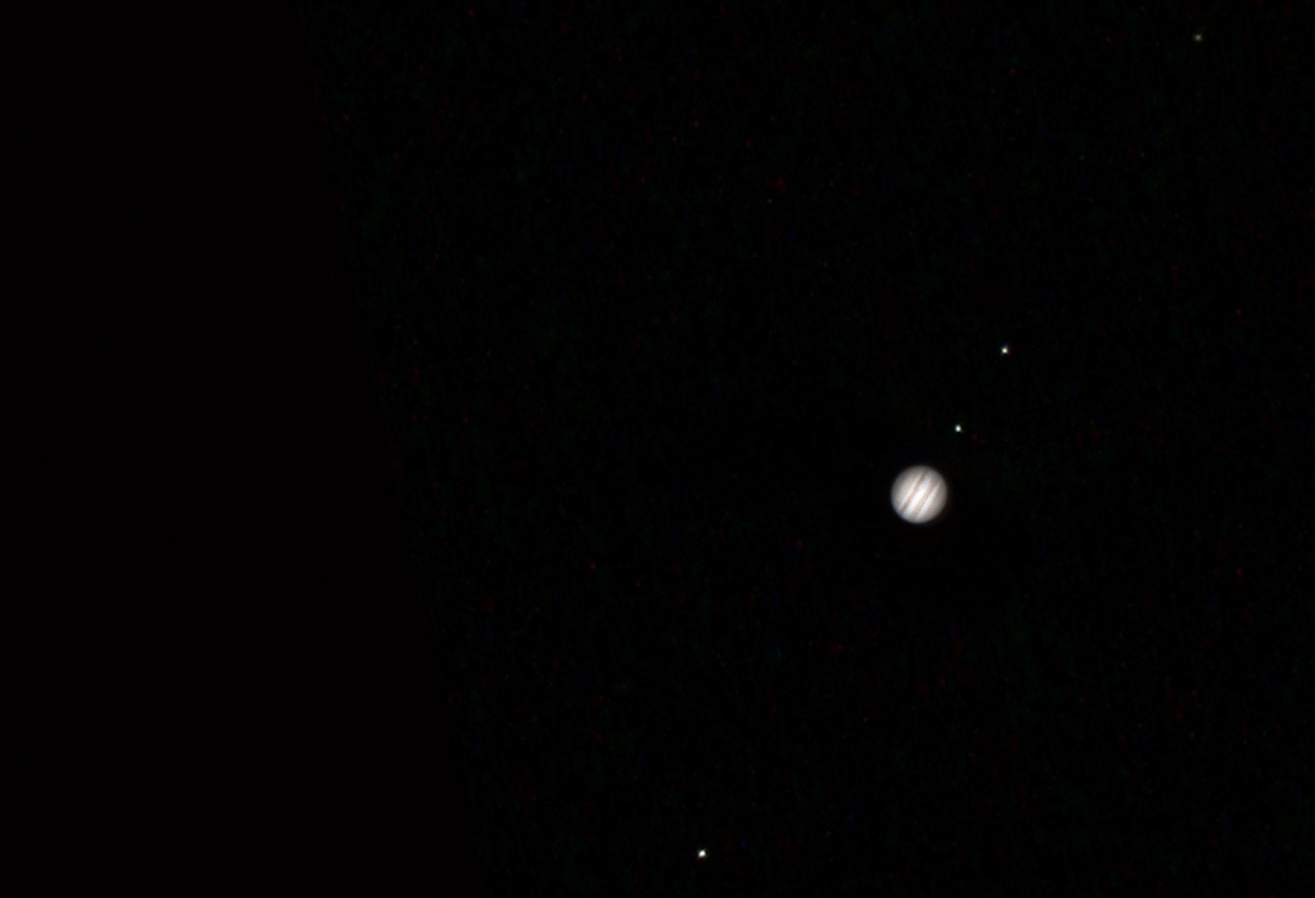 This was the first time I'd ever seen Jupiter in the sky, and boy was I impressed to see 4 moons!